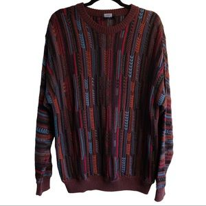 (UNISEX)Vintage colorful Cosby/Grandpa sweater